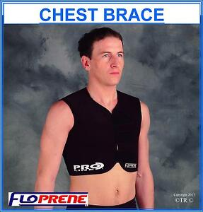 Floprene Chest Brace Black Medical Body Support Wear Sport Protection Gear New