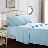 King Size Soft Sheets Comfort Count 4 Piece Deep Pocket Bed Sheet Set