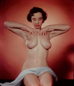 Marge Mellor Pin-up Nude 1950's Stereo Realist slide 3D Stereoscopic
