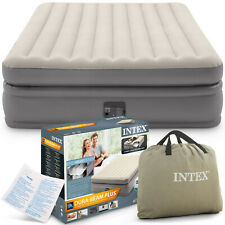 Intex 66702 Luftbett  230V  203x157x47cm Gästebett mit Pumpe Camping LuftmatraE6