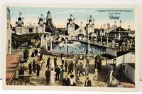 Cleveland Ohio, Lagoon and Chute the Chutes Luna Park Victorian Era Postcard B22