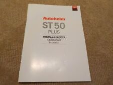AUTOHELM ST50 PLUS TRIDATA & REPEATER OPERATION AND INSTALLATION MANUAL - 1993