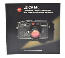 LEICA M6 29 Page Catalog / Brochure