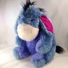 """Disney Eeyore Large Plush Stuffed Animal 18"""" Cuddler Shaggy Cuddly Soft Furry"""