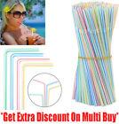 100 Straws Plastic Bendy Colourful Straws Birthday Wedding Summer Party Drink