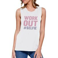 Work Out Muscle Tee Women's Workout Tank Cute Gym Sleeveless Top