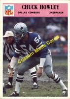 Custom made 1966 Dallas Cowboys Chuck Howley football card blue