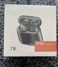 New listing Tozo T6 Ipx8 Wireless Bluetooth Waterproof Earbuds Black