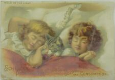 1880's Schenck's Quack Medicine Hold to Light Victorian Trade Card P116