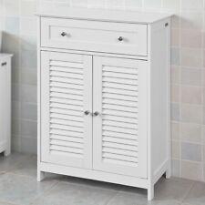 SoBuy Mobiletto Base per Bagno o Ingresso - Bianco (60 x 87 x 35 cm)
