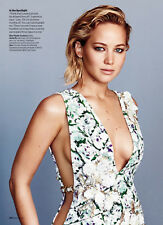 Jennifer Lawrence 9pg + cover GLAMOUR magazine feature, clippings