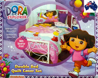 Dora the Explorer Double/King Single Bed Doona/Duvet/Quilt Cover Set AUS QLTY