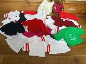 LARGE BUNDLE OF TEDDY BEARS CLOTHES~35 T SHIRTS & CARDIGANS FOR SMALL & MED BEAR