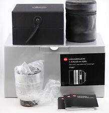 *MINT-* Leica M 50mm 0.95 ASPH Noctilux Silver Chrome 1:0.95/50 11667 M9 M10 MP