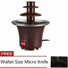 Mini Chocolate Fountain with Credit Card Knife