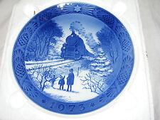 "1973 Christmas Plate Going Home Train Kongeligt Royal Copenhagen 7"" Plate"