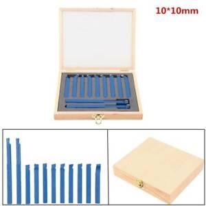 11-tlg. Drehmeißel Drehstahl Satz 10x10 mm Set Hartmetall Drehmeissel mit Koffer