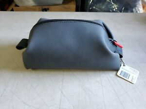 NWT KOBY Bag Tooletries Silicone Leak Resistant Toiletry Dopp Kit Charcoal Grey