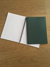 A4 Spiral Bound Notebook 160 Pages White Ruled Pads