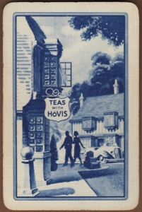 Playing Cards Single Card Old HOVIS BREAD Advertising Art Design Lady Man Pub 10