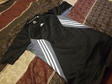 Addidas Men T-shirt M Athletic Black Grey White Black Logo Workout