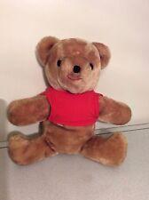 "Vintage Ms Noah Pooh Bear with Red Shirt plush 15"""