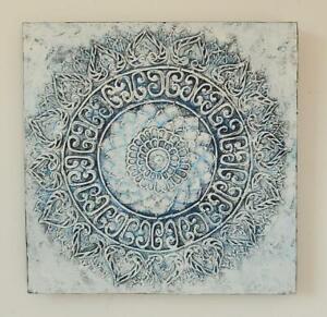 Wandbild Mandala Leinwand Original Acrylbild Bild handgemalt Blume Gemälde