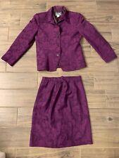 Women's Pendleton 100% wool suit size 6-8 purple blazer skirt