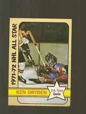 1972 -  73 Topps Hockey Set KEN DRYDEN ALL STAR AS CARD NO. 127