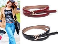 New Fashion Women Genuine Leather Metal Letter C Buckle Golden or silver Belt