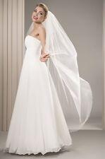Neu 2019  Romantischer Boho Weicher  Brautschleier  FEIN Schleier  180 cm  weiß