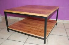 Mango Holz Couchtisch Beistelltisch Anstelltisch Kaffeetisch Alan 60 x 60 x 45cm