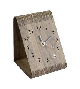 Lautlose Analog Tischuhr, Standuhr in Holzoptik für Büro,Wohnzimmer,Schlafzimmer