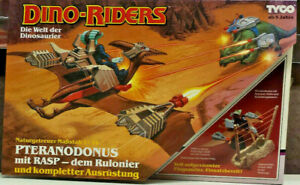 TYCO DINO RIDERS Pteranodonus mit RASP dem Rulonier + Ausrüstung Inhalt Neu