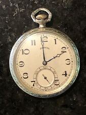 Antique 12 Size 17 Jewels  Pocket Watch ILLINOIS Working