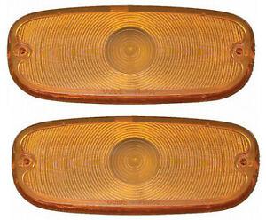 58-59 Chevy Truck Amber Park Light Lamp/Turn Signal Lenses