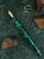 Green Moonman S3 Acrylic Fountain Pen Gift Pen, Beautiful Barrel EF/F Nib