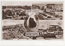 Good Luck From Worthing Vintage RP Postcard 433a