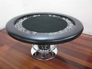 "LUXURY DESIGN 58"" ROUND PROFESSIONAL POKER TABLE  WITH MARBLE DESIGN"