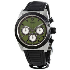 Tudor Fastrider Chrono 42mm AUTO gr d SS lth Automatic Green Mens Watch