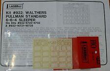 American Model Builders, Inc Ho #922 Windows for: Walthers Pullman Standard Slee
