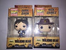 The Walking Dead Funko Pop Vinyl Figurines, Both Keychains, Daryl And Rick