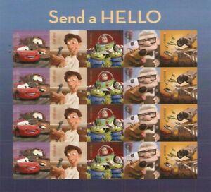 Send a Hello Pixar Films Sheet of 20 Forever Stamps Scott 4553-57