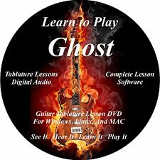 Ghost Guitar TABS Lesson CD 39 Songs + Backing Tracks + BONUS!