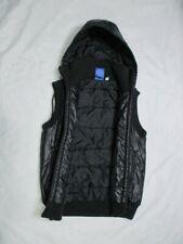 Rare Adidas Chile 62 Men Black Hooded Vest Gilet Jacket Warm Size XS