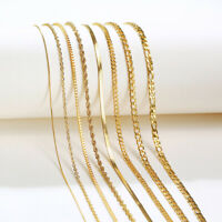 Women Necklace Twist Rope Cable Snake Collar Choker Chain Link Stainless Steel