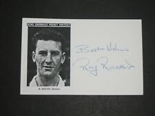 Ray Reeves Reading, Brentford signed postcard