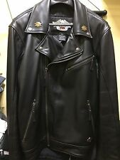 Men's Harley Davidson RARE MADE IN USA Classic Leather Biker Jacket XL Tall