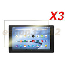 3 Pack Clear Screen Protector Film For Amazon Kindle Fire HD 10 2015 Tablet