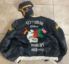 1958-61 122nd Ord.Bn. Germany Tour Jacket 3rd Armored Div Spearhead Hat Patch